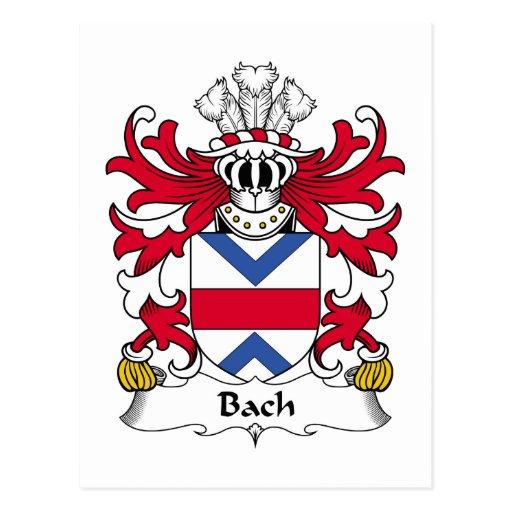 Escudo de la familia de Bach Postal