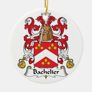 Escudo de la familia de Bachelier Adorno Redondo De Cerámica