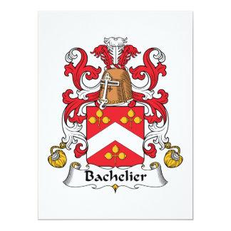 """Escudo de la familia de Bachelier Invitación 6.5"""" X 8.75"""""""