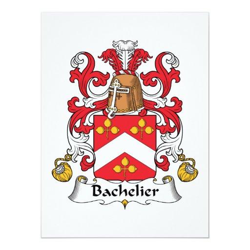 Escudo de la familia de Bachelier Invitación