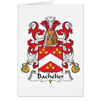 Escudo de la familia de Bachelier Tarjeta De Felicitación