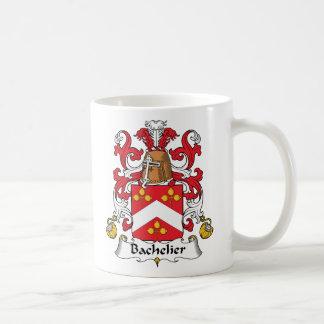 Escudo de la familia de Bachelier Taza Básica Blanca
