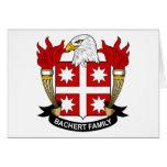 Escudo de la familia de Bachert Tarjeta
