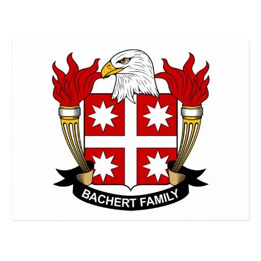 Escudo de la familia de Bachert Tarjetas Postales