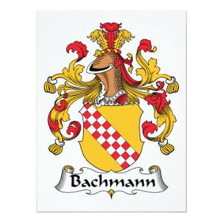 """Escudo de la familia de Bachmann Invitación 6.5"""" X 8.75"""""""
