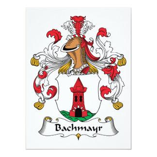 """Escudo de la familia de Bachmayr Invitación 6.5"""" X 8.75"""""""
