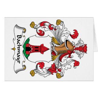 Escudo de la familia de Bachmayr Tarjeta De Felicitación