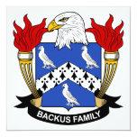 Escudo de la familia de Backus Invitación 13,3 Cm X 13,3cm