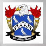 Escudo de la familia de Backus Poster