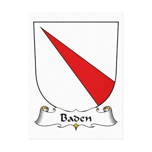 Escudo de la familia de Baden Lona Estirada Galerías