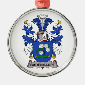 Escudo de la familia de Badenhaupt Adorno Navideño Redondo De Metal
