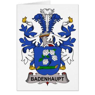 Escudo de la familia de Badenhaupt Tarjeta De Felicitación