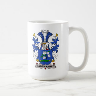 Escudo de la familia de Badenhaupt Tazas De Café