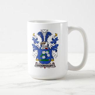 Escudo de la familia de Badenhaupt Taza Clásica