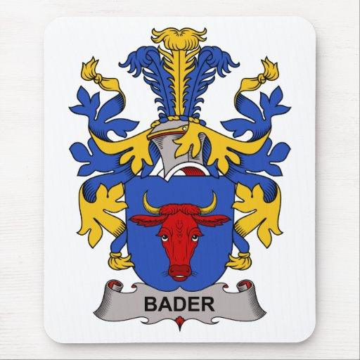 Escudo de la familia de Bader Alfombrillas De Raton