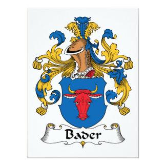 """Escudo de la familia de Bader Invitación 6.5"""" X 8.75"""""""