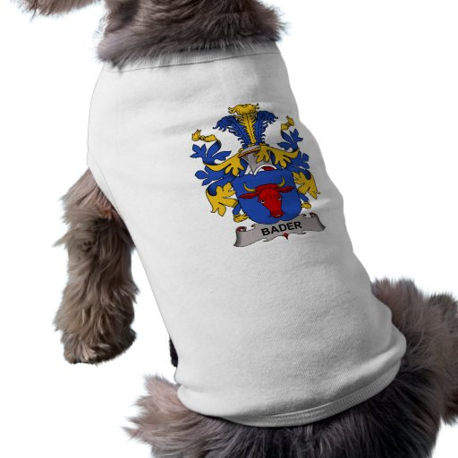 Escudo de la familia de Bader Playera Sin Mangas Para Perro