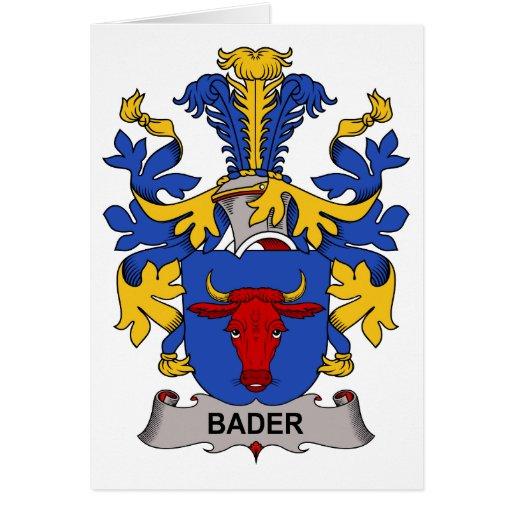 Escudo de la familia de Bader Tarjeta De Felicitación