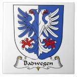 Escudo de la familia de Badwegen Teja Ceramica