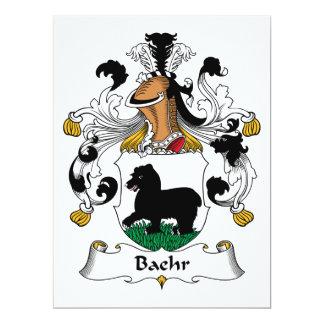 """Escudo de la familia de Baehr Invitación 6.5"""" X 8.75"""""""