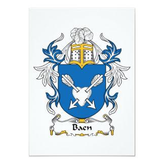 """Escudo de la familia de Baen Invitación 5"""" X 7"""""""