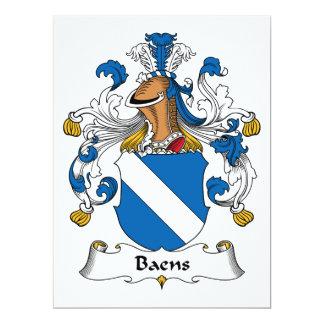 """Escudo de la familia de Baens Invitación 6.5"""" X 8.75"""""""