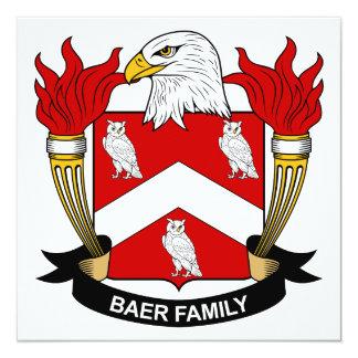 Escudo de la familia de Baer Invitación 13,3 Cm X 13,3cm