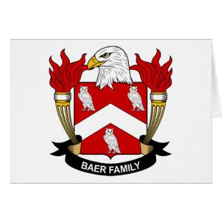 Escudo de la familia de Baer Tarjetón