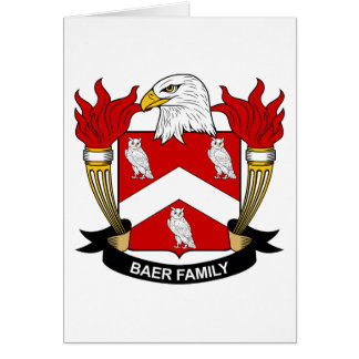 Escudo de la familia de Baer Tarjetas