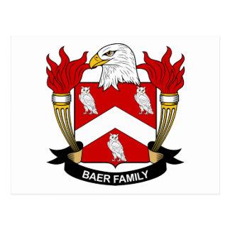 Escudo de la familia de Baer Postal