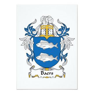 """Escudo de la familia de Baers Invitación 5"""" X 7"""""""