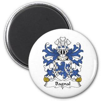 Escudo de la familia de Bagnal Imán Redondo 5 Cm