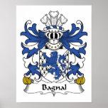 Escudo de la familia de Bagnal Impresiones