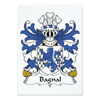 """Escudo de la familia de Bagnal Invitación 5"""" X 7"""""""