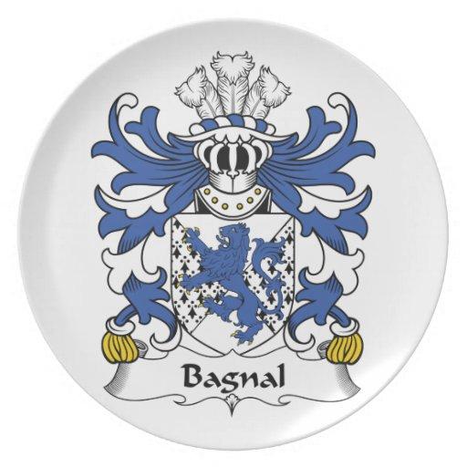 Escudo de la familia de Bagnal Plato De Comida