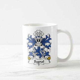 Escudo de la familia de Bagnal Taza Básica Blanca