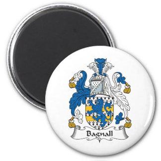 Escudo de la familia de Bagnall Imán Redondo 5 Cm