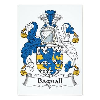 """Escudo de la familia de Bagnall Invitación 5"""" X 7"""""""