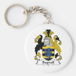 Escudo de la familia de Bagnall Llavero Redondo Tipo Pin