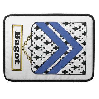 Escudo de la familia de Bagot Funda Para Macbooks