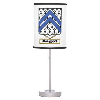 Escudo de la familia de Bagot Lámpara De Mesa