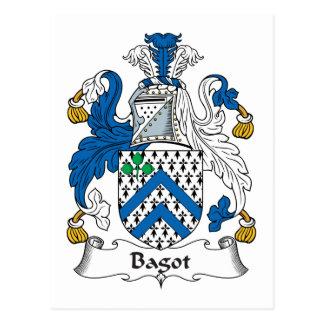 Escudo de la familia de Bagot Tarjeta Postal