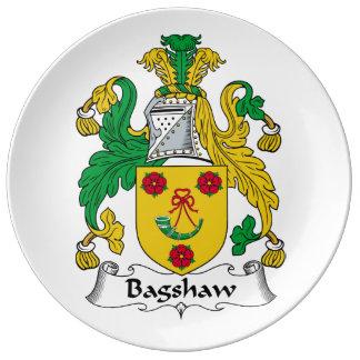 Escudo de la familia de Bagshaw Plato De Cerámica