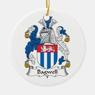 Escudo de la familia de Bagwell Adorno Navideño Redondo De Cerámica