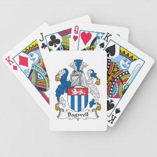 Escudo de la familia de Bagwell Baraja Cartas De Poker