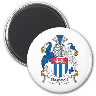 Escudo de la familia de Bagwell Imán Redondo 5 Cm