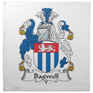 Escudo de la familia de Bagwell Servilleta De Papel