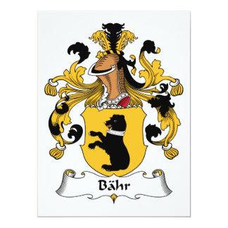 """Escudo de la familia de Bahr Invitación 6.5"""" X 8.75"""""""