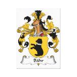 Escudo de la familia de Bahr Lona Estirada Galerias