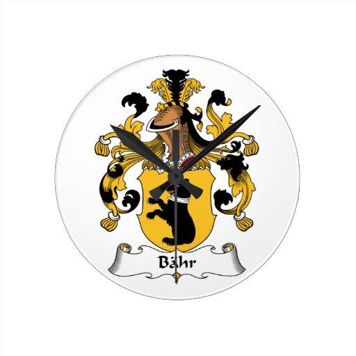Escudo de la familia de Bahr Reloj Redondo Mediano